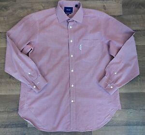 Faconnable – Classique Button Down Dress Shirt Size 42 16 ½ Large - Red / White