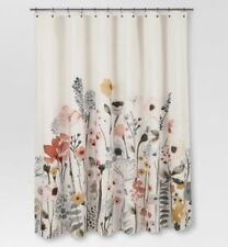 Threshold Floral Wave Shower Curtain  Multi Color New Wildflowers NEW