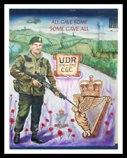 UDR ULSTER DEFENCE REGIMENT REMEMBRANCE DAY POPPY POPPIES METAL PLAQUE SIGN R60