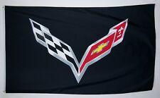 New listing Corvette Black C-7 3' X 5' Car Flag Indoor Outdoor Racing Automotive Banner
