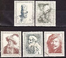 1956 zomerzegels Rembrandt complete serie NVPH 671 / 675 gestempeld