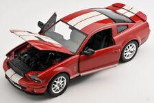 BLITZ VERSAND Ford Shelby Cobra GT 500 2007 rot 1:24 Welly Modell Auto NEU OVP
