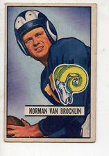 1951 Bowman Football Card #4 Norm Van Brocklin-Los Angeles Rams