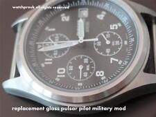 REPLACEMENT GLASS PULSAR  G10 Military RAF NAVY ARMY Pilot Chronograph V657-X063