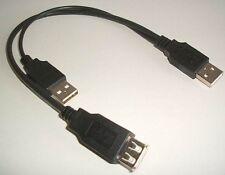USB Cavo Y Adattatore 30cm Cavo di collegamento cavo di collegamento 2x A ST Corrente 1x a Bu