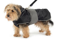 Dog HARNESS Coat Ancol 2 Iin 1 Black  Handy Straps