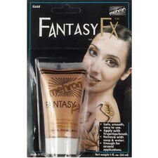 Gold Metallic Mehron Fantasy FX Water Based Paint Body Face Stage Cream Makeup