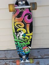 Vintage Sector 9 Longboard Complete Skateboard Deck with Lighted Wheels Rare.