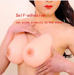 2PCS Self-adhesive Silicone Fake Boobs Breast Forms Bra Enhancers Crossdresser