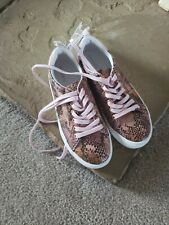 Old Navy Pink Snakeskin Tennis Shoes Kids Size 4 New