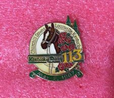Pins Cheval Turf Hippisme Course KENTUCKY DERBY 113 SANDS LAS VEGAS Casino 1987