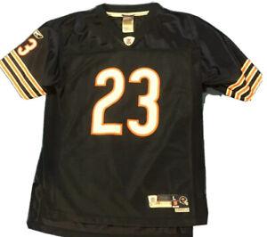 NFL Boy's Blue & Orange Chicago Hester Football Jersey.  Size Large 14-16