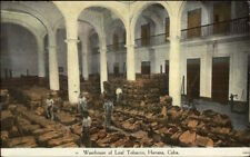Havana Cuba Warehouse Leaf Tobacco c1915 Postcard MADE IN USA