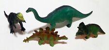 Dinosaur Figures Pachycephalosaurus Triceratops Stegosaurus 2002 Apatosaurus