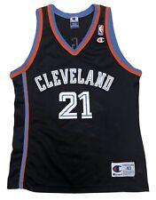 Rare Vintage Champion NBA #21 Trajan Langdon Cleveland Cavaliers Jersey 40 Duke