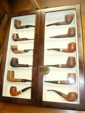 Christian Dior 12 pipes wooden pipe rack display case with glass window - Rare!