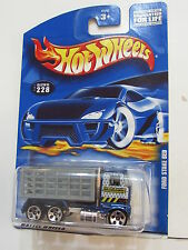 HOT WHEELS 2001 FORD STAKE BED #228 BLUE