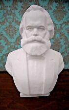 "Very Big 16.5"" Rare Russian Soviet USSR gypsum bust statue KARL MARX 70s"