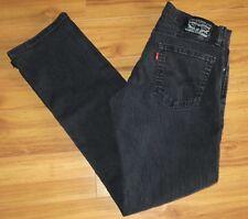 Levis 514 Jeans Straight Fit Black Stretch Denim Size 32x33 Red Tab