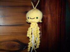 New crochet stuffed yellow baby jellyfish animal handmade nursery