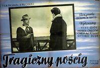 CACCIA TRAGICA 1947 Giuseppe De Santis Massimo Girotti POLISH POSTER