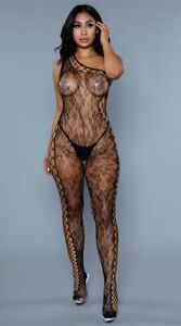 One Size Fits Most Womens Keep Up Tonight Bodystocking