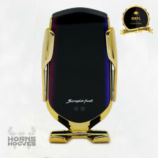 WIRELESS CAR CHARGER AUTOMATIC QI PHONE HOLDER SMART SENSOR R1 10W GOLD AUTENTIC