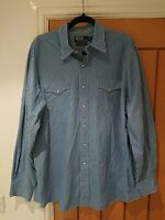 Polo by Ralph Lauren Sport Western Shirt 100% Two-Ply Cotton Large