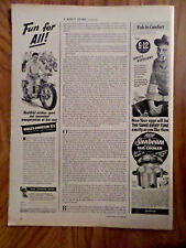 1950 Harley Davidson 125 Ad Fun for All Healthful Outdoor Sport