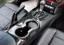 Carbon Fiber Water Cup Frame Panel Cover Trim For Ford Mustang 2015 2016 2017