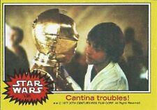 1977 Topps Star Wars Yellow #135 Cantina Troubles! > Luke > C-3PO > EX-MT