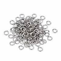 2000x Unsoldered Stainless Steel Open Jump Ring Round Loop Findings Rings 3-10mm