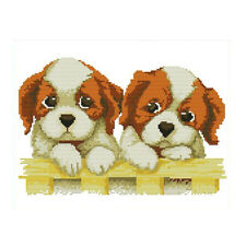 Two Dogs Stamped Cross Stitch Kits Cross-Stitching Pattern 11 Count 43x37cm
