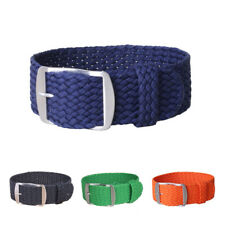 Watch Band Nylon Pure Color Strap 14 16 18 20 22 mm Military Stripe Buckle Strap