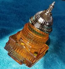 """Vintage Avon """"The Capitol"""" Leather After Shave Collectible Bottle ! Full !"""