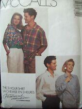 McCalls Pattern 5781 Easy Unisex Shirt Cut Size 40-42 circa '90s Palmer Pletsch