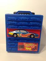 Vintage 1997 Mattel Hot Wheels Car Truck Rolling Case Carrier Holds 100 Cars