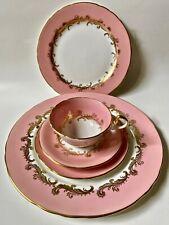 "Aynsley 1930's ""Sheraton"" Pink Gold 5pc. Setting"