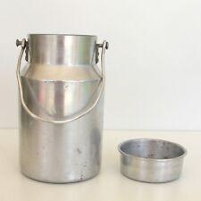 Ancien Bidon de  Lait Savoyard Ets d'OLIVO 2 Litres  -Aluminium Pur - Vintage -