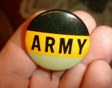 Orig. old 1940s vintage ARMY Football pinback button pin badge UNION LABEL maker