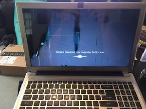 acer-aspire-5. Broken Screen, Broken Keyboard. Boots To Windows.