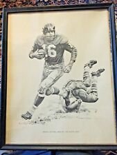 Framed Frank Gifford Lithographs 1960 Shell Oil - Robert Riger Giants