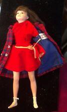 1960's LIBBY LITTLECHAP DOLL IN Velvet Dress And Plaid Coat