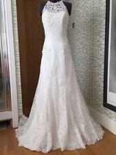 Lace Choker Neck Mermaid & Trumpet Regular Wedding Dresses