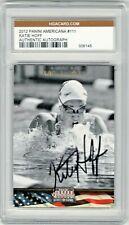 2012 Panini Americana HGA Autograph Katie Hoff USA Olympic Swim Team Champion