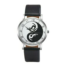 ADULTS / TEENS - YIN AND YANG CATS - Quartz Watch With BLACK  Strap