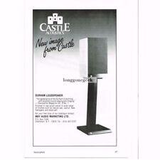 1986 Castle Acoustics Durham Speakers Stereo Hi-Fi Vtg Print Ad