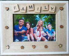 FAMILY PHOTO FRAME - Wooden-Home Decor, Birthday Gift,Scrabble