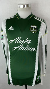 Portland Timbers Jersey Long Sleeve 2013 Men's Size Medium M #11 Kalif Alhassan