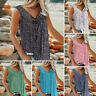 Women Summer Loose Casual Vest Tank Tops Sleeveless Boho Floral T-Shirt Blouse